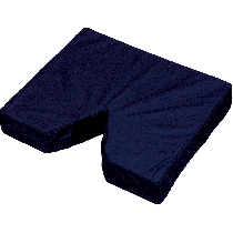 """Coccyx Seat Cushion 16"""" x 18"""" x 3"""" with Navy Cover"""