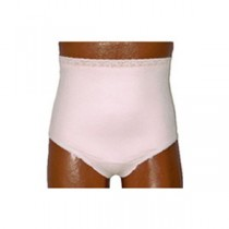 """""""OPTIONS Ladies' Basic with Built-In Barrier/Support, Soft Pink, Center Stoma, Small 4-5, Hips 33"""""""""""