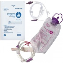Gravity Bag Set with 1200 cc Enteral Bag - with ENFit Connector