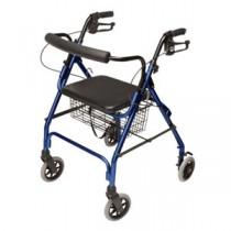 """Lumex Walkabout Lite Four-Wheel Rollator, Blue, 6"""" Wheel"""