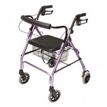 """Lumex Walkabout Lite Four-Wheel Rollator, Lavender, 6"""" Wheel"""