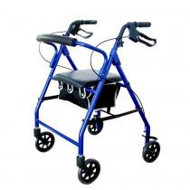 Rollator, Soft Seat, Blue